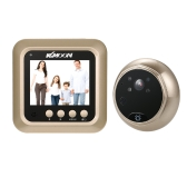 """KKmoon 2.4"""" LCD Digital Peephole Viewer 160° Door Eye Doorbell HD IR Camera"""