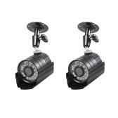 """2 PCS Câmera CCTV 1/3 """"CMOS Cor 1080 P de Alta resolução 24 Lâmpada Nightvison Câmera de Bala Interna À Prova D"""