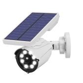 Солнечный датчик движения свет IP66 Водонепроницаемые прожекторы безопасности 800 люмен 8 светодиодных солнечных уличных настенных светильников для крыльца, сада, проезжей части