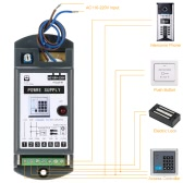 AC110-220V to 12V/3A Power Supply for Door Entry Access Control System
