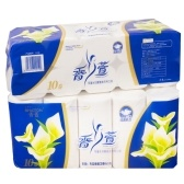 10 Rolls Napkin Tissue Soft Toilet Paper 3-Layer for Home Bathroom Outdoor Wood Pulp Paper