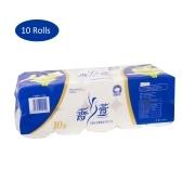 10 rolos de guardanapo de papel higiênico macio de 3 camadas para casa de banho papel de polpa de madeira ao ar livre