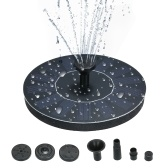 7pcs Round Solar Birdbath Fountain Water Pump Solar Outdoor Water Fountain Panel Kit