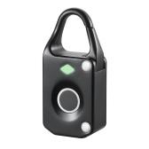 Fingerprint Lock Intelligent Keyless USB Charge Wasserdichte Diebstahlsicherung Tür Gepäckschloss Schwarz