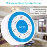 Wireless Standalone Stroboskop Sirene Alarm für GSM Home Security Alarmanlage 433MHz