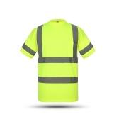 SFVest Alta visibilidad Camisa de trabajo de seguridad reflectante Chaleco reflectante Ropa de trabajo transpirable Seguridad Camiseta reflectante Ropa de trabajo Camisa polo de seguridad