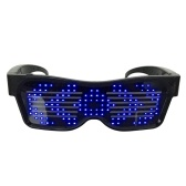 LED Light up Glasses USB Rechargeable & Wireless with Flashing LED Display Glowing Luminous Glasses for Christmas Party Bars Rave Festival