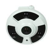 Câmera panorâmico do CCTV da noite da visão IR-CUT do apoio da came de 1.7mm Fisheye 180 °