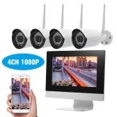 "4 Kanal HD 1080P Wireless WiFi NVR Kit 10,1 ""Netzwerk-Videorekorder + 4pcs 1080P WiFi IP-Kamera"