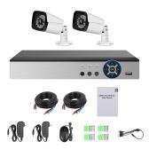 1080n Pro HD + 4-Kanal-Videoüberwachungs-Digitalrekorder + 2 analoge Überwachungskameras