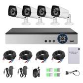 Enregistreur numérique de sécurité vidéo 1080n Pro HD + 4CH + caméras de sécurité analogiques 4pcs