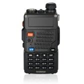 BaoFeng 128CH Dual Band VHF 136-174MHz e UHF 400-520MHz Talkie Walkie Transceptor Rádio de 2 vias portátil portátil à prova d'água intercomunicador longa distância 1800mah bateria