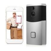 Campainha video sem fio do telefone visual da porta do intercomunicador de HD 720P WIFI construída no cartão do TF 8G