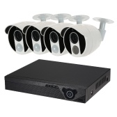 4CH 1080N Digital Video Recorder + 3 stücke 1080 P AHD Kamera + 1 stücke 1080 P AHD Kamera + 4 * BNC-stecker