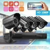 4CH 1080P屋内屋外耐候性CCTVカメラ付き4CH防犯カメラシステムフル1080PビデオDVRレコーダー
