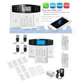 Sem fio GSM SMS inteligente alarme Home sistema Kit LCD Display controle remoto segurança doméstico aviso 99 + 8 zonas
