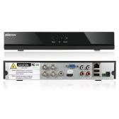 KKmoon® 4 kanałowy kanał Full 1080N / 720P Rejestrator AHD DVR HVR NVR HDMI Sieci oparte na sieciach P2P Sieć Onvif umożliwia rejestrację cyfrowych rejestratorów wideo Plug and Play Android lub iOS APP Wolna przeglądarka CMS Wykrywanie ruchu Alarm e-mailowy PTZ dla HD 2000TVL Kamera nadzoru wideo System nadzoru