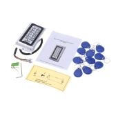 Metall-wasserdichte Zugriff Steuerelement-ID Card Reader Keypad für Tür Security DC7-30V Wiegand 26 Schnittstelle mit 10ST Schlüsselanhänger 125kHz