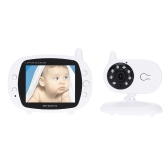 3.5in Baby Monitor 2.4GHz Wireless with 8IR LED Two Way Intercome 3 Lullabies Temperature 850