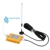 3G UMTS WCDMA2100MHz LCD repetidor de sinal com interior e exterior Antenna(32ft)