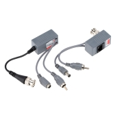 CCTV-Kamera Audio Video Power Balun Transceiver BNC UTP RJ45 mit Audio-Video und Power over CAT5/5E/6 Kabel