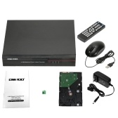 Segunda mano OWSOO 8CH Channel Full 960H / D1 H.264 HDMI P2P Cloud Network DVR Grabador de video digital + 1TB Soporte para disco duro Seagate Registro de audio Control de teléfono Detección de movimiento Correo electrónico de alarma PTZ para cámara de seguridad CCTV Sistema de vigilancia
