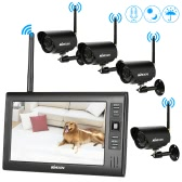 "KKmoon  4CH Wireless WiFi Camera System 2.4GHz 7"" TFT Digital LCD Display Monitor"
