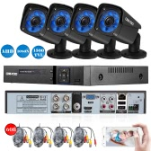 OWSOO 4CH Channel Full AHD 1080N 1500TVL CCTV Surveillance DVR Security System