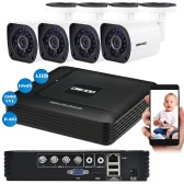 OWSOO 4CH 1080N DVR + 4本AHD 720P Bullet CCTVカメラNTSCシステム