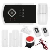 KKmoon 433MHz Wireless Auto-dial GSM SMS Alarm Security System PIR Motion Sensor Door Sensor Wired Siren Kit Phone App Remote Control Home Burglar Security Alarm System