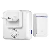 Wireless Smart Türklingel mit großer Reichweite mit 52 Melodien 5 Level Lautstärke LED-Anzeige Wasserdichte Türklingel
