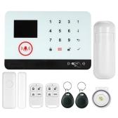 433MHz sem fio WIFI + GSM SMS sistema de segurança de alarme de discagem automática