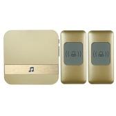 Wireless Smart Ding-dong Türklingel mit 1 * Innengerät 2 * Außengerät