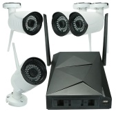4 Channel HD 1080P Wireless WiFi NVR Camera System