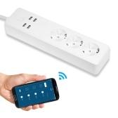 Tomada inteligente do protetor de impulso da tira do poder de WiFi