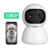 Wireless IP Camera 1080P with Dual-lens Telephoto & Wide-angle