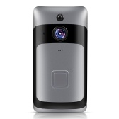 Smart Home WiFi Türklingel mit schwarzem Chime EU-Stecker