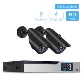 4-канальный цифровой видеорегистратор + 2шт камеры 1080P с системой домашней безопасности и наблюдения, встроенной в 24шт.