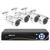 Heimsicherheitskamerasystem 8CH DVR + 4Pcs 2MP Full HD Wasserdichte Überwachungskamera für den Außenbereich