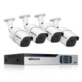 8CH Surveillance DVR e 4pcs 1080P FHD Telecamera di sicurezza esterna resistente alle intemperie (senza disco rigido)