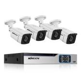 Sistema de cámara de seguridad para el hogar 8CH, DVR de vigilancia + 4pcs 2MP Full HD Cámara de vigilancia a prueba de mal tiempo al aire libre