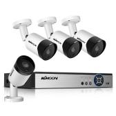 8CH Sistema de cámara de seguridad para el hogar Grabador DVR con 4pcs 2.0MP HD Cámaras de vigilancia a prueba de intemperie para interiores y exteriores