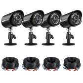 4pcs Full HD 1080P 2MP Security Analog Cameras