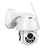 フルHD1080Pセキュリティカメラ2MP屋外防水ワイヤレスWiFiPTZカメラ(ナイトビジョンモーション検出付き)双方向オーディオリモートアクセス