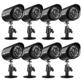 Аналоговые камеры безопасности HD 720, 8 шт.