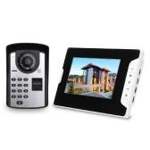 7-дюймовый монитор, отпечаток пальца, пароль, пульт дистанционного управления, HD камера, видео, дверной телефон, дверной звонок, домофон, беспроводная разблокировка