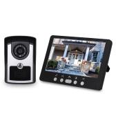 7-дюймовый монитор HD камера видеодомофон дверной звонок домофон