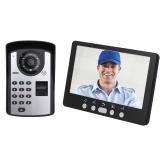 Отпечаток пальца Пароль Пульт дистанционного управления HD камера Видеодомофон Дверной звонок Система внутренней связи