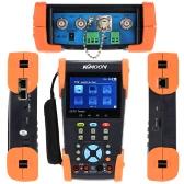 KKmoon 3.5 インチ LCD CCTV カメラ テスター ビデオ モニター PTZ/ケーブル トレーサー/DMM/TDR/ヴォルフ/IP スキャン/ポート HVT 2623T を点滅
