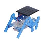 Mini fai-da-te Solar Robot a sei zampe Modello meccanico Conversione di energia Tecnologia Divertente Puzzle Educativo Robot scientifico giocattolo